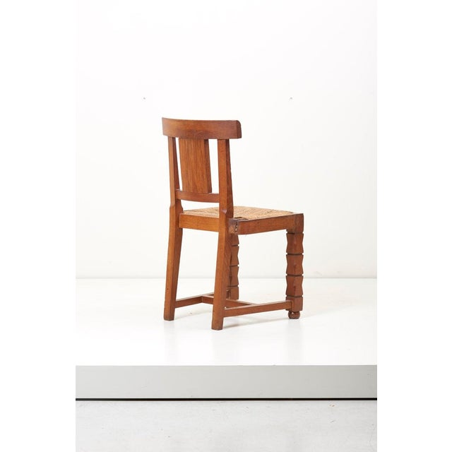 Set of Six Wooden Chairs by Jacques Mottheau, France, 1930s For Sale - Image 6 of 13