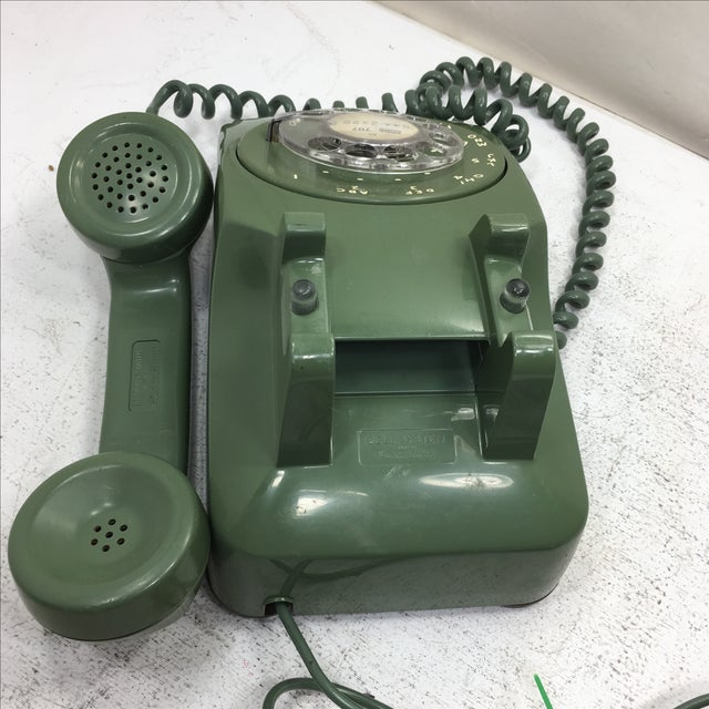 Moss Green Rotary Dial Telephone - Image 6 of 9