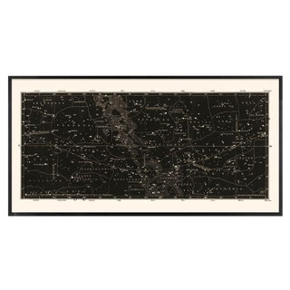 Large Black Star Atlas Map Print For Sale