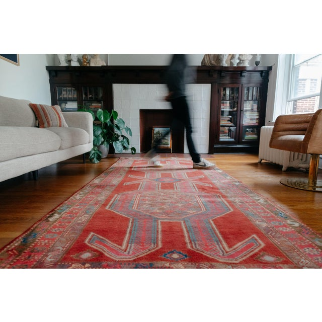 Nomadic rugs like this one were made according to their knotter's own plan, not according to a set of predetermined...