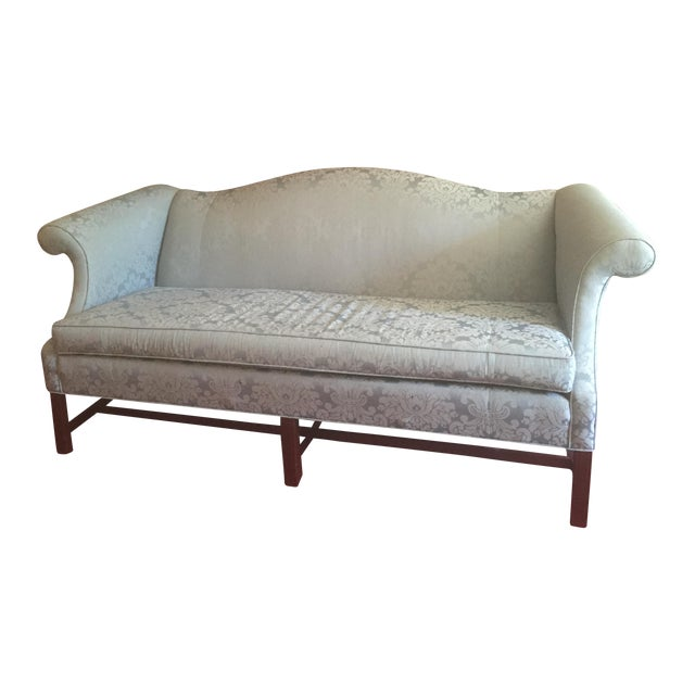 Traditional Style Blue Camelback Sofa/Settee - Image 1 of 4