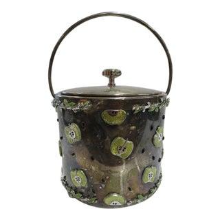 Vintage St. John Metal Ice Bucket With Swarovski Crystals For Sale