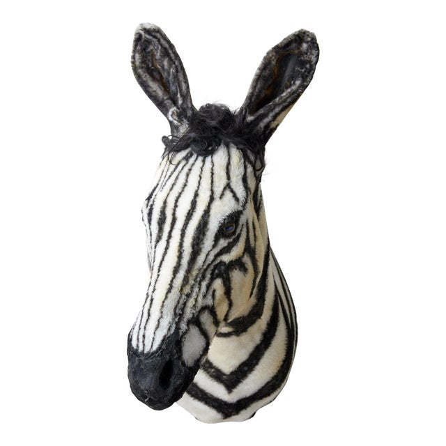 Artisan Sculpture of Zebra Using Faux Materials For Sale