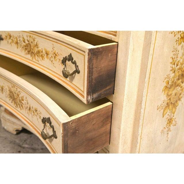Italian Painted Secretary Desk For Sale - Image 9 of 10