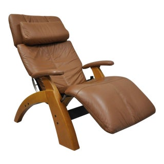 Zero-Gravity Brown Leather Glider Recliner