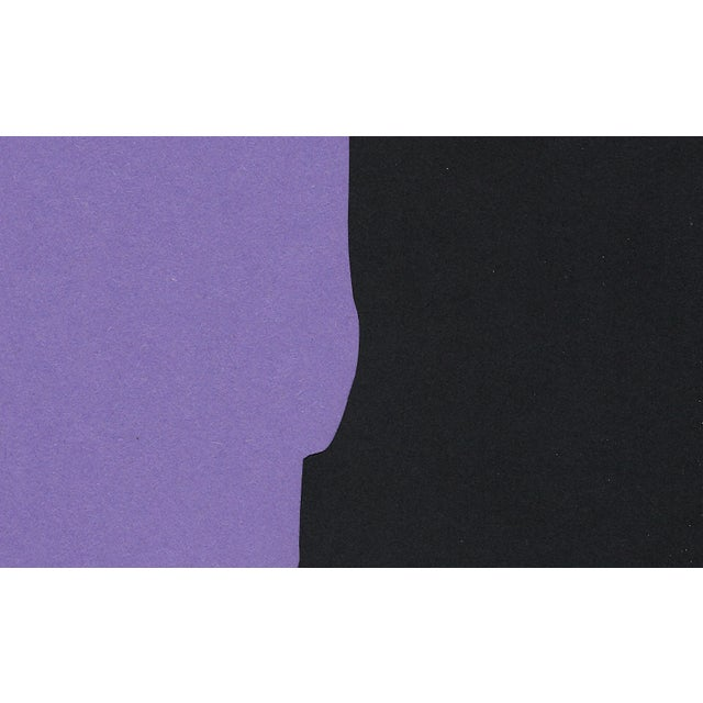 "2020s ""Profile 3 - Purple"", Minimalist Collage by Sarah Myers For Sale - Image 5 of 8"