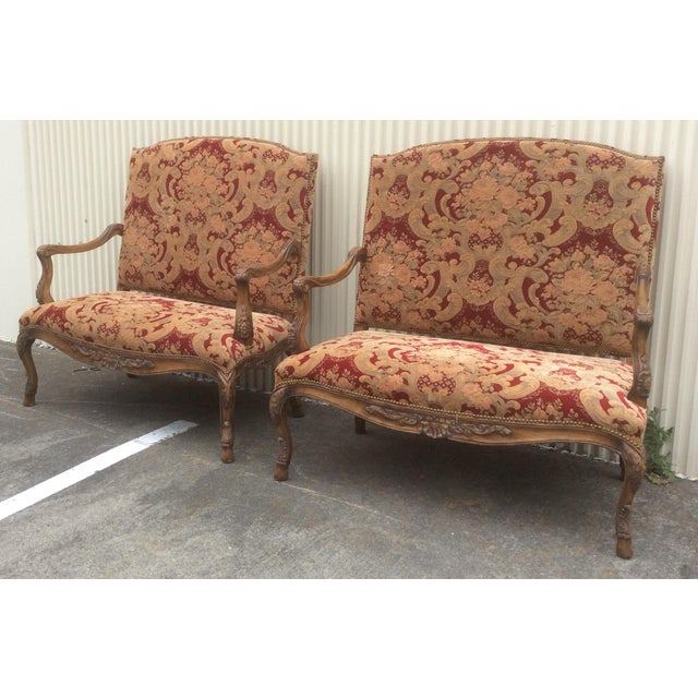 Tuscan Style Settees - a Pair For Sale - Image 4 of 13