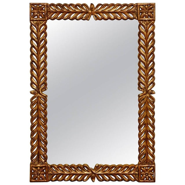 Gilt Carved Mirror by Harrison and Gil For Sale - Image 13 of 13