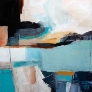 Voyage Abstract Sea Painting by Melanie Biehle For Sale