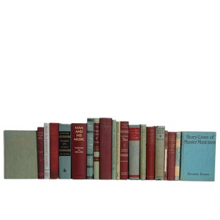 Turquoise and Wine Music Lovers' Book Set,S/20 For Sale