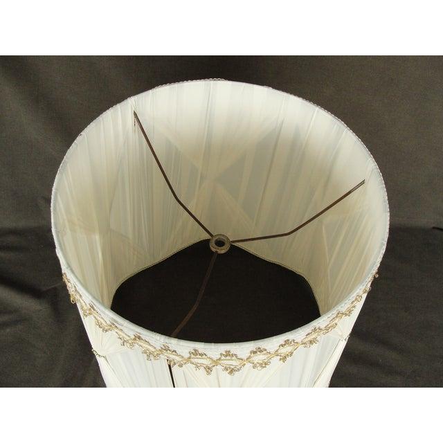 Vintage Mid-Century Modern Cloth Lamp Shade - Image 5 of 6