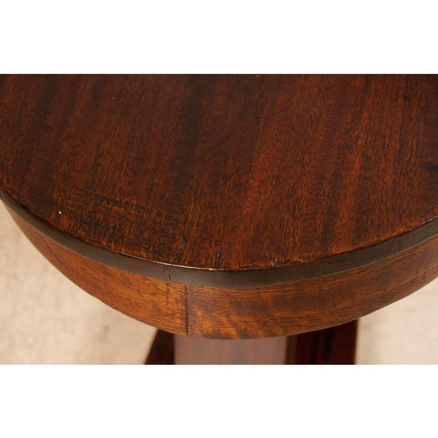 Orange Empire Mahogany Pillar and Scroll Table With One Drawer For Sale - Image 8 of 9
