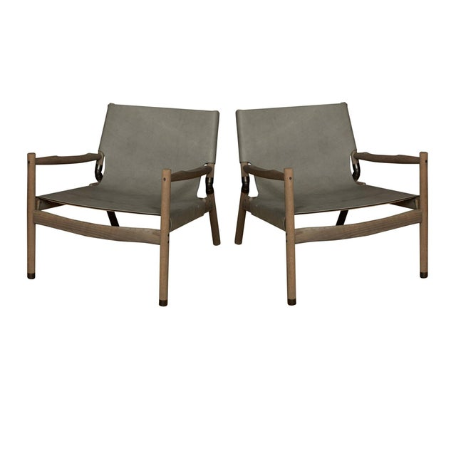 Pair of Erickson Aesthetics Oak Lounge For Sale In New York - Image 6 of 6
