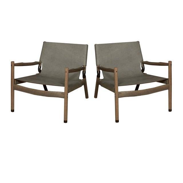 Pair of Erickson Aesthetics Oak Lounge - Image 6 of 6