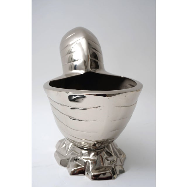 Silver Nickel Plated Nautilus Cachepot For Sale - Image 8 of 10