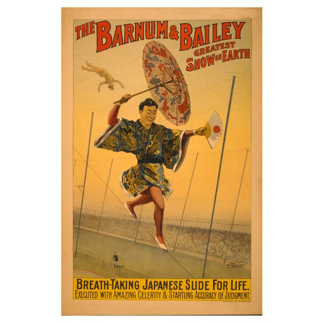 The Slide for Life - Print of 1800s Circus Poster For Sale