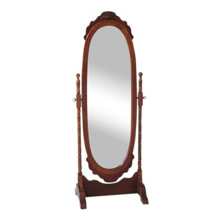 Victorian Cherry Finished Cheval Dressing Mirror