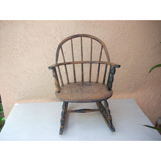 Windsor Child's Rocking Chair For Sale - Image 10 of 10