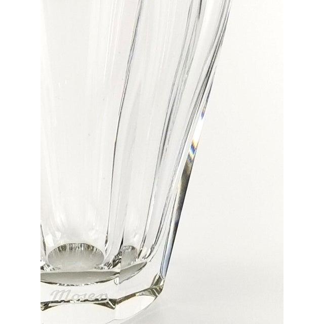 """Moser Glassworks Vintage Moser """"Diva"""" Crystal Vase Gilded Band in a Classical Pattern For Sale - Image 4 of 10"""