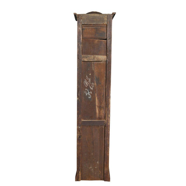 Fruitwood Louis XVI Provincial Fruitwood Tall Case Clock For Sale - Image 7 of 8
