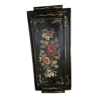 Victorian Nesting Trays With Painted Flowers - a Pair For Sale