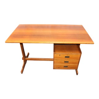 1960s Italian Wooden Writing Desk For Sale