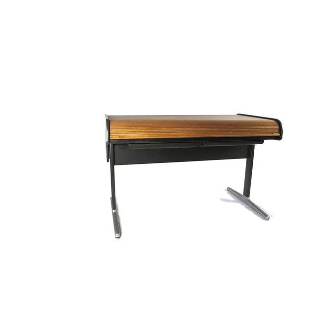 Mid-Century Modern 1960s Mid-Century Modern George Nelson Roll Top Desk For Sale - Image 3 of 5