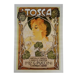 Vintage G. Puccini Tosca Italian Opera Poster