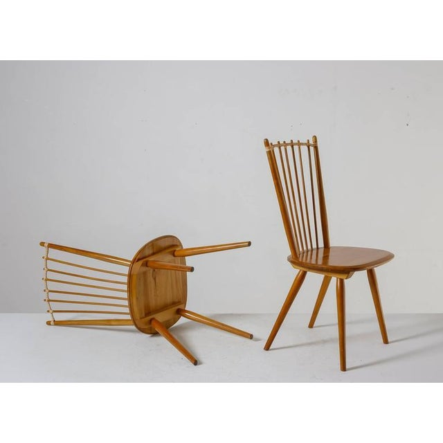 Albert Haberer Pair of Arts and Crafts Chairs, Germany, circa 1950 For Sale - Image 4 of 9