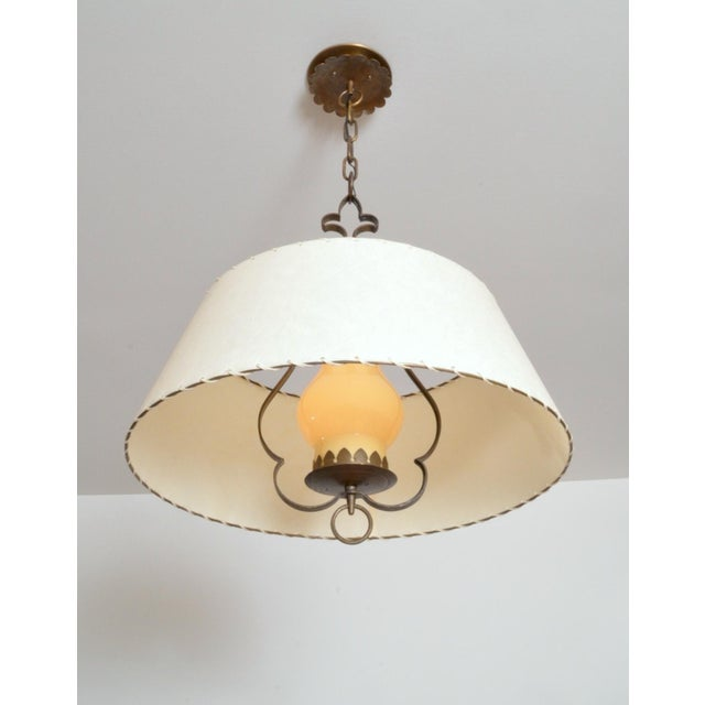 Traditional Alfred Muller Ceiling Lamp, Switzerland, 1940s For Sale - Image 3 of 5