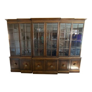 1960s Union National Palatial Breakfront Cabinet For Sale