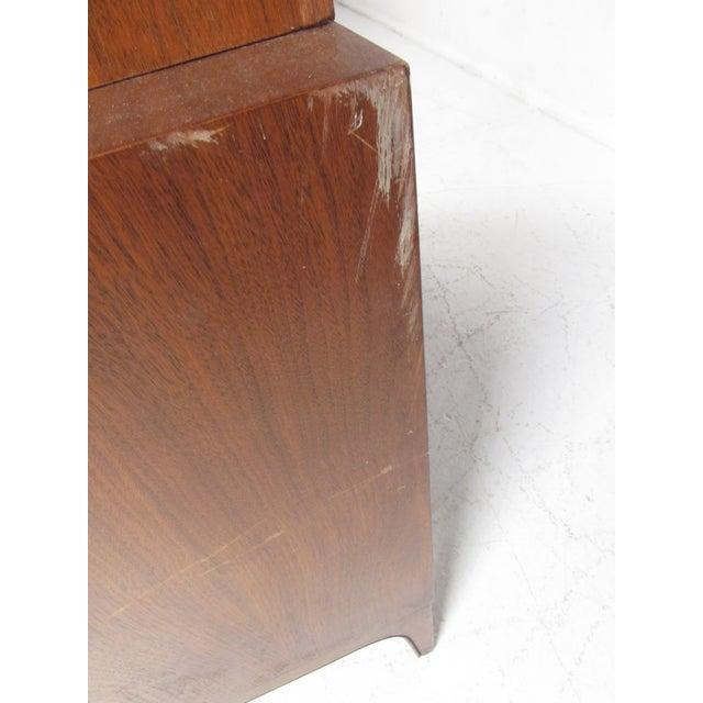 Impressive Mid-Century Modern Walnut Armoire For Sale - Image 9 of 12