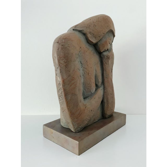 Contemporary Head in Hand Resin Sculpture For Sale - Image 4 of 6