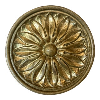 20th Century Neoclassical Large Gilt Decorative Knob For Sale
