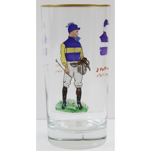 English Traditional Hand-Painted Jockey Highball Glasses - Set of 6 For Sale - Image 3 of 8