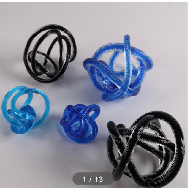 Glass Vintage Glass Knot Collection - Set of 5 For Sale - Image 7 of 8