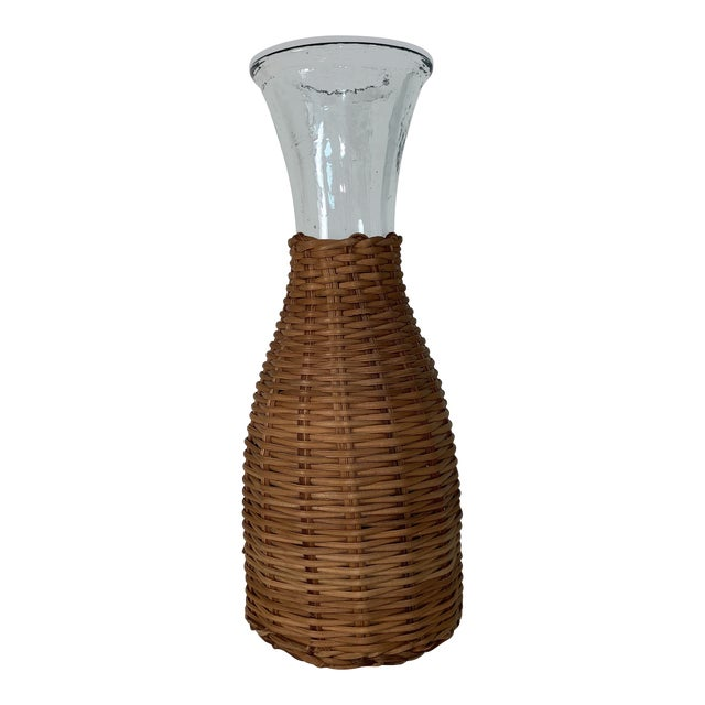 Image of 1970s Wicker Wrapped Decanter