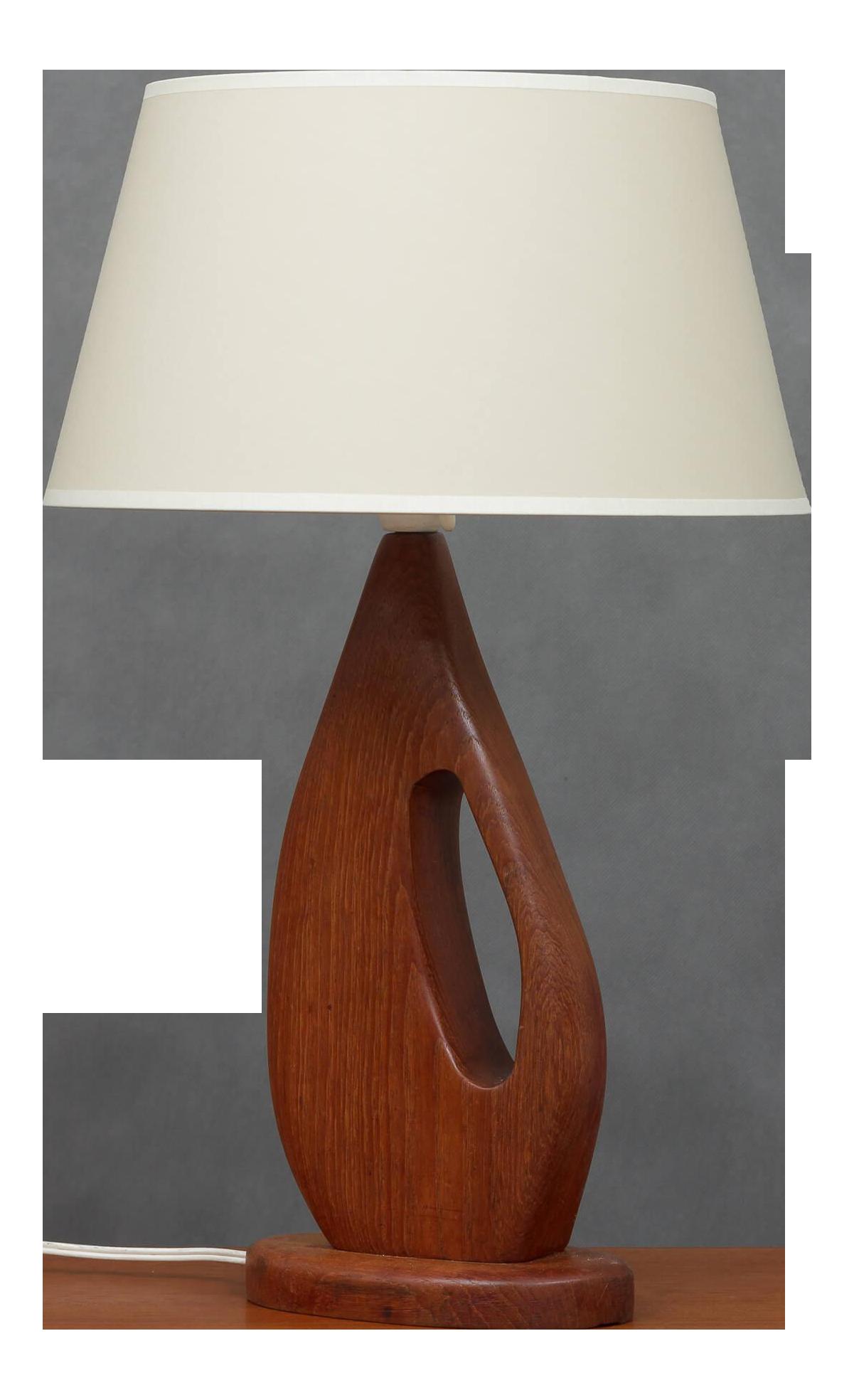 Image of: 1960s Mid Century Modern Danish Teak Desk Table Lamp Chairish