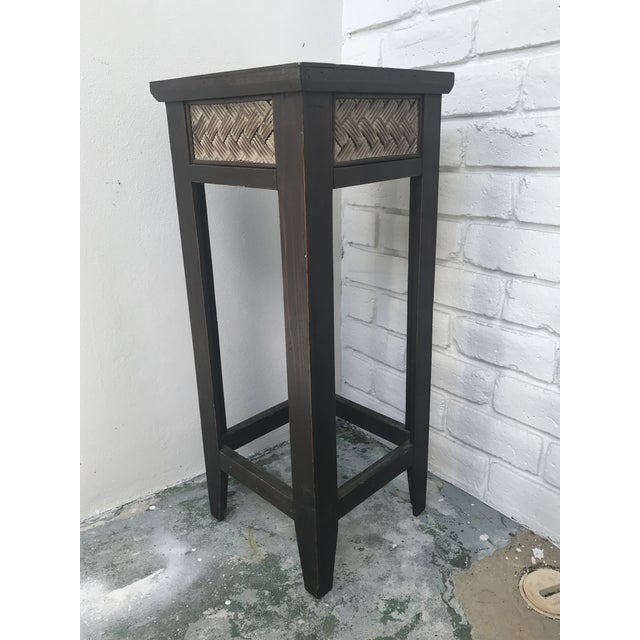 Small light weight wooden plant stand