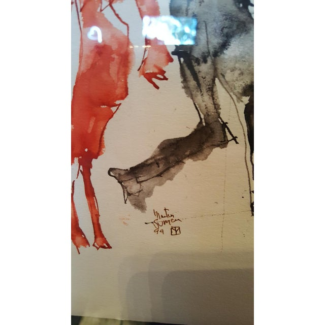 Martin Sumers Watercolor Painting - Image 5 of 5