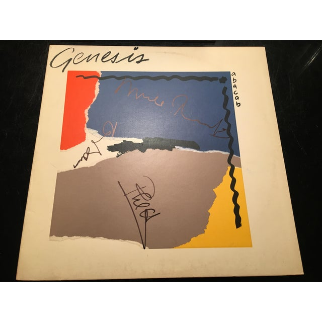 Genesis Autographed 'Abacab' Album Cover For Sale - Image 4 of 6