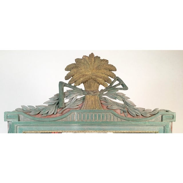 French Painted Louis XVI Style Mirror with Agricultural Motifs - Image 2 of 4
