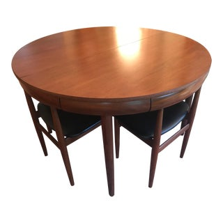 Hans Olsen 1960's Mid-Century Danish Modern Space Saving Dining Set
