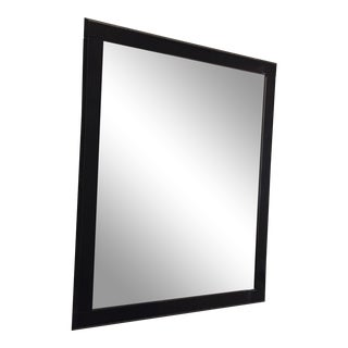 Black High Gloss Lacquer Beveled Mirror For Sale