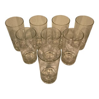 Monogrammed 'S' Highball Glasses - Set of 8 For Sale