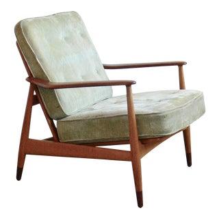 1950s Vintage Kindt Larsen for France & Daverkosen Danish Reclining Lounge Chair For Sale