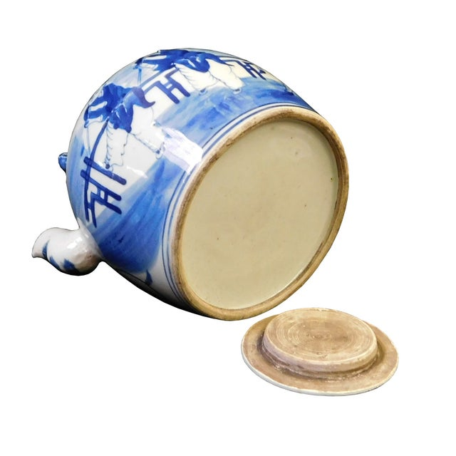 Chinese Blue & White Porcelain Kirin Teapot For Sale - Image 5 of 6