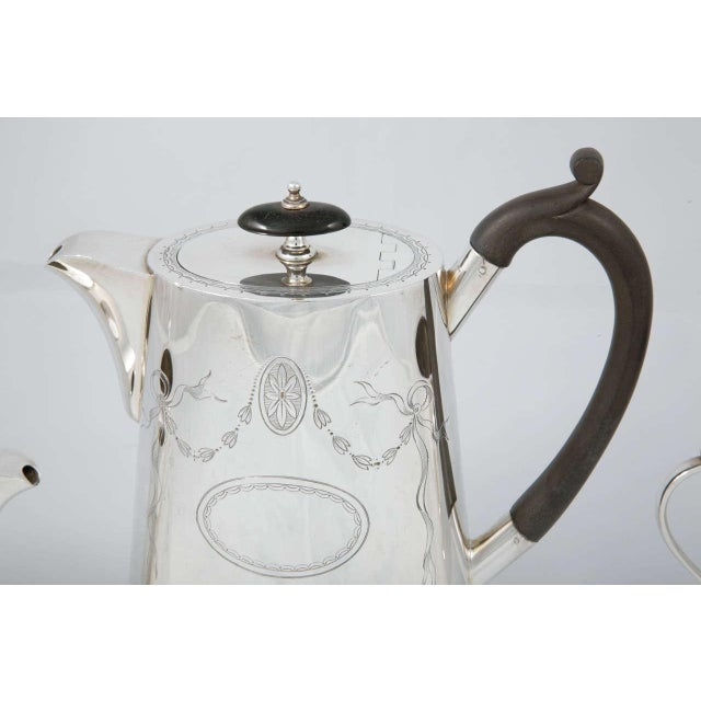 Traditional 3 Piece Coffee Set For Sale - Image 3 of 11