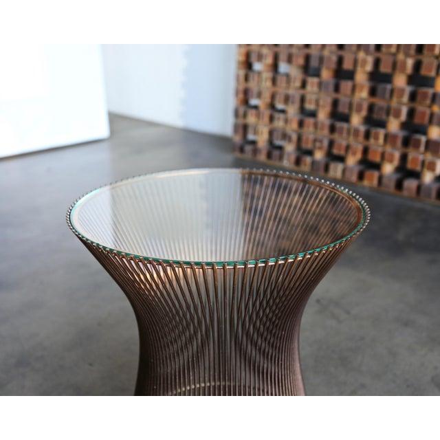 1965 Warren Platner for Knoll Copper Occasional Table For Sale In Los Angeles - Image 6 of 9