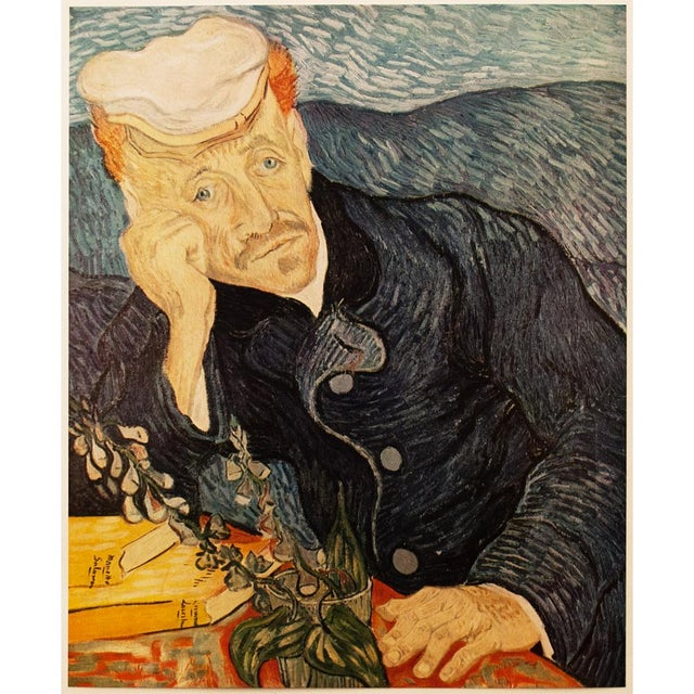 An excellent circa 1950s post-impressionist vintage tipped-in lithograph after Portrait of Dr. Gachet(June 1890) by...
